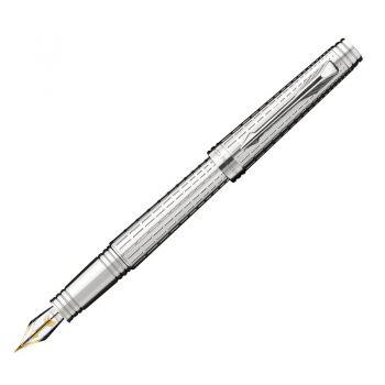 Parker 首席系列豪华镀银白夹墨水笔