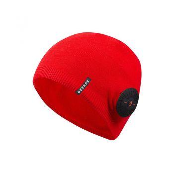 GEEBOX秋冬款蓝牙耳机一体帽子 中性长款 - 雅黑